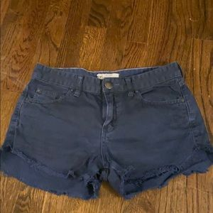 Free People Navy cut off denim shorts